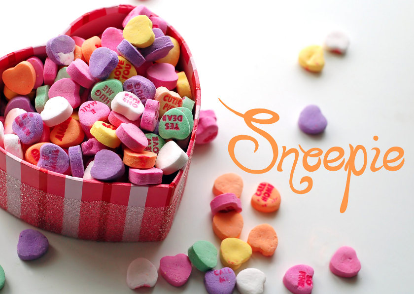 Valentijnskaarten - Valentijn snoepje