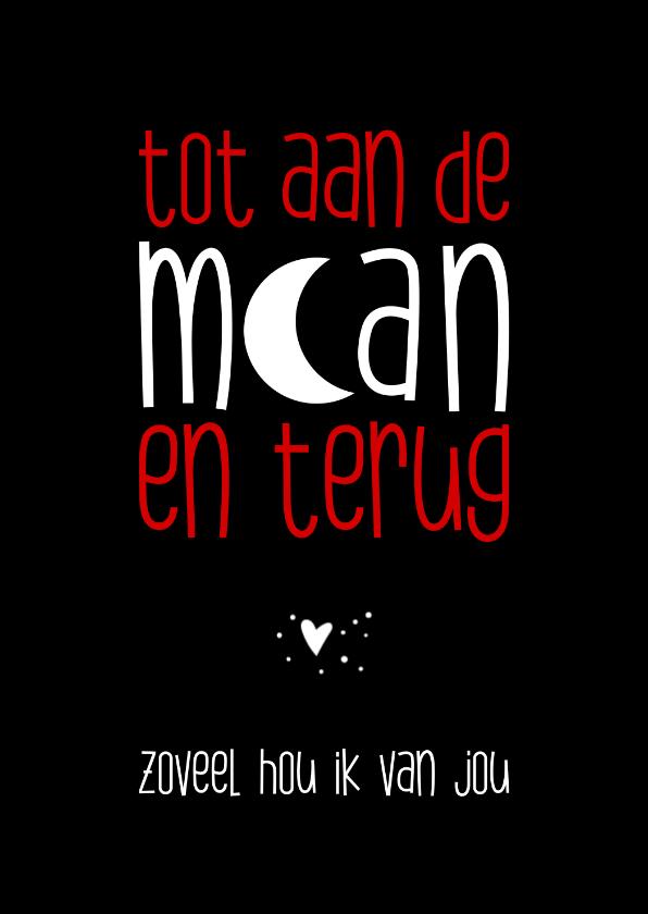 Valentijnskaarten - Valentijn tot aan de maan