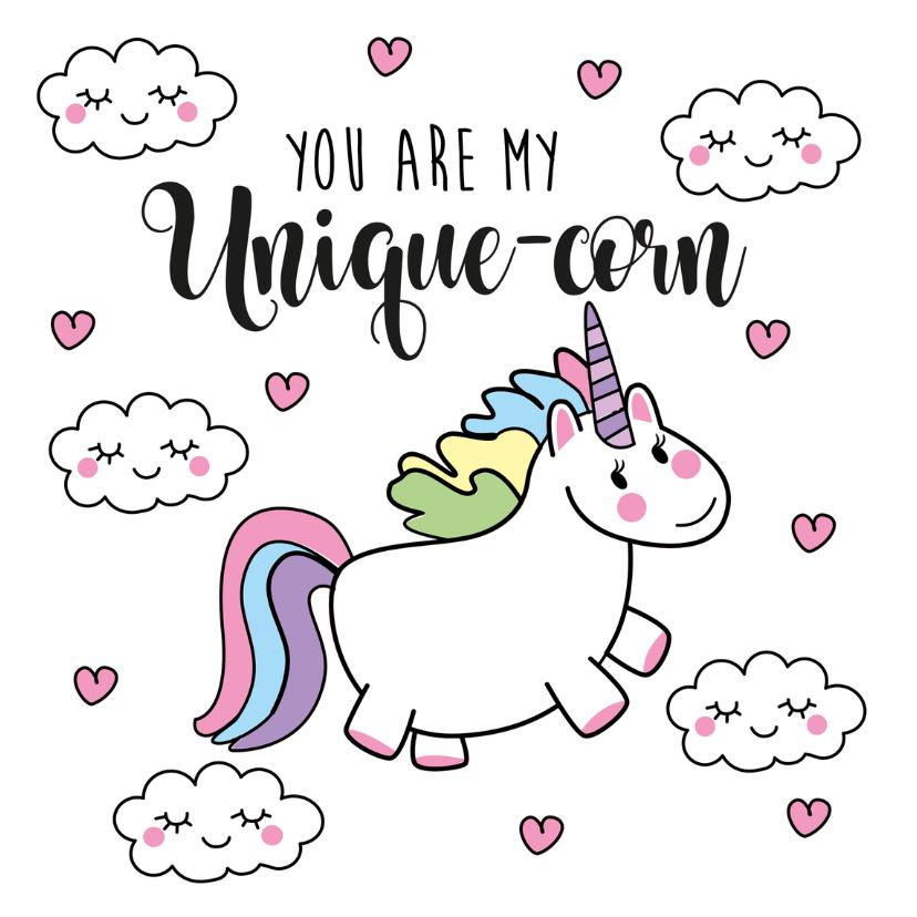 Valentijnskaarten - Valentijn Unicorn