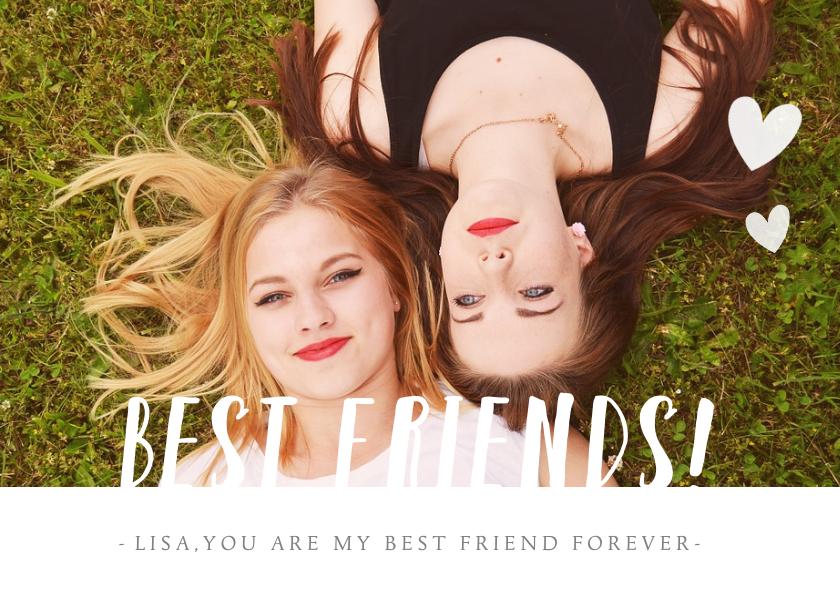 Valentijnskaarten - Valentijn vriendschaps kaart met foto - best friends