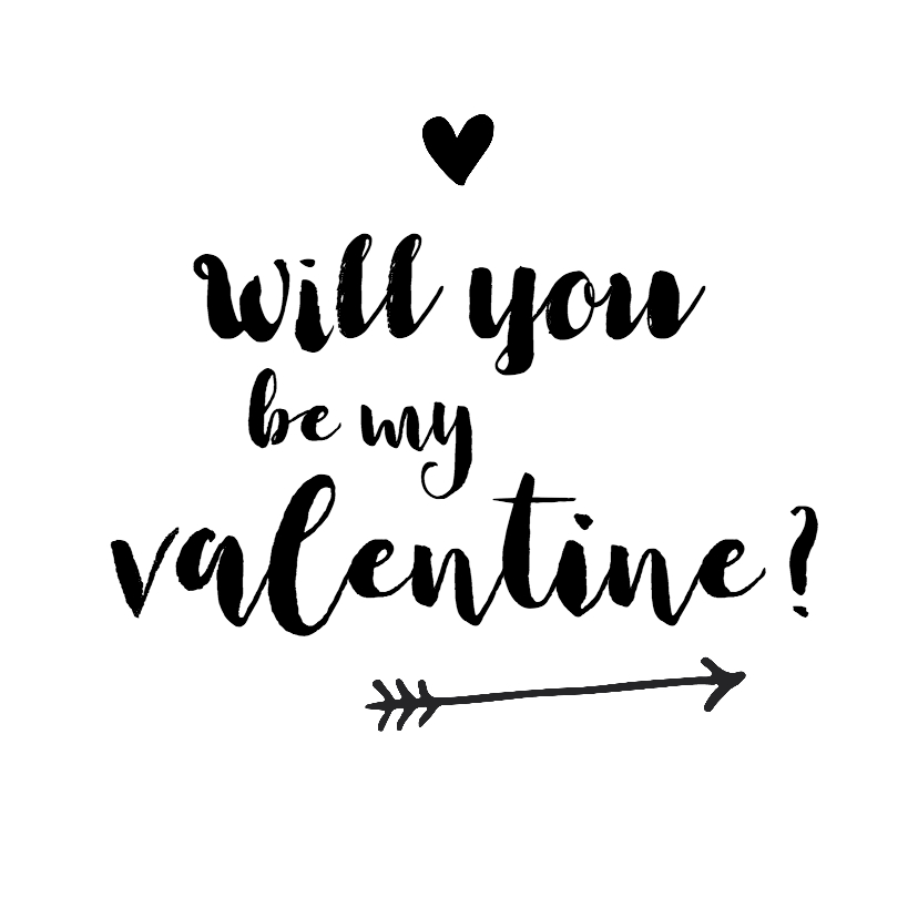 Valentijn Will You Be My Valentine Kaartje2go