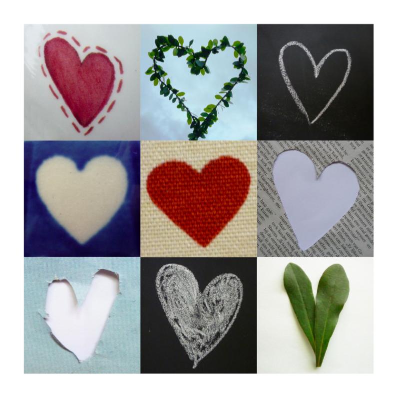 Valentijnskaarten - Valentijnkaart met veel harten