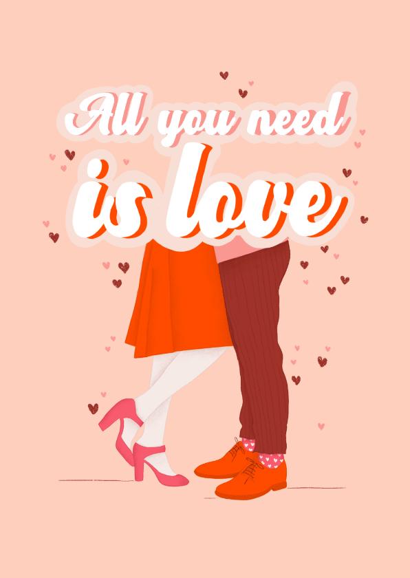 Valentijnskaarten - Valentijnskaart - All you need is Love