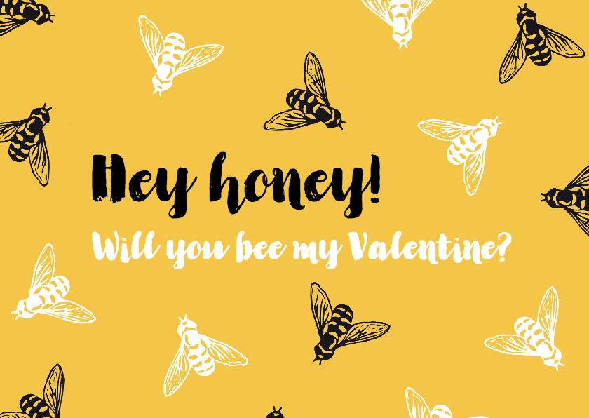 Valentijnskaarten - Valentijnskaart bijtjes - Bee my Valentine