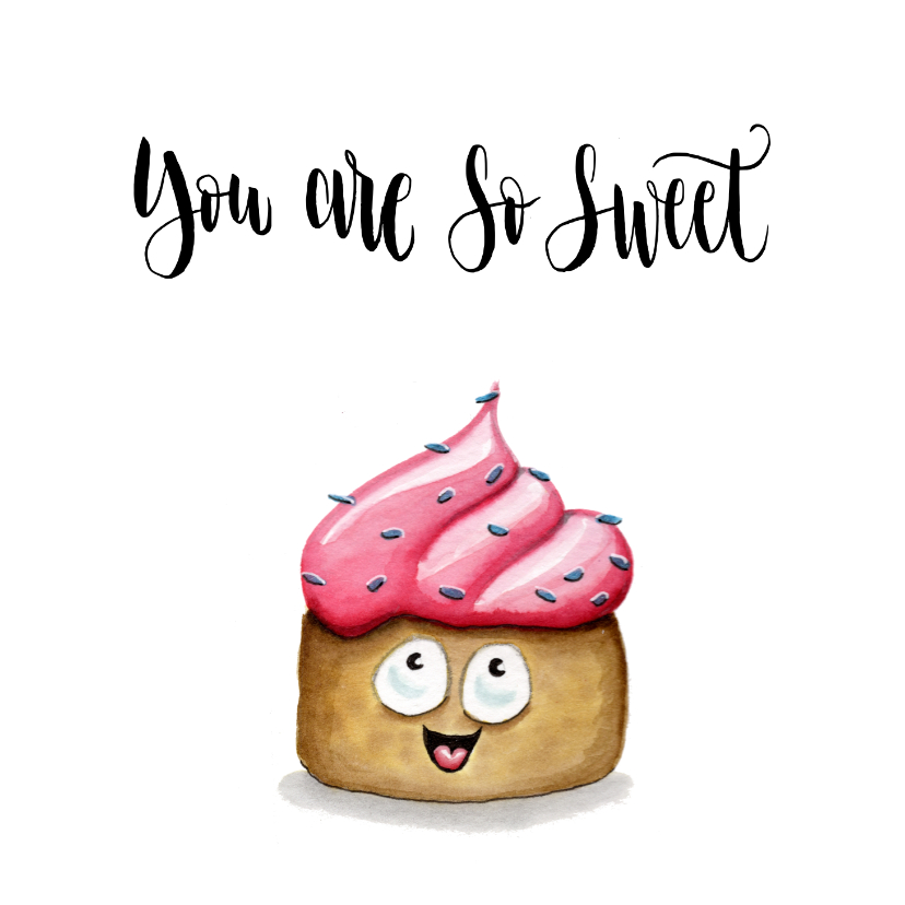Valentijnskaarten - Valentijnskaart Cupcake