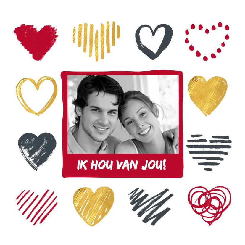 Valentijnskaarten - Valentijnskaart foto hartjes