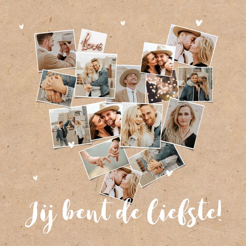 Valentijnskaarten - Valentijnskaart fotokaart collage hart kraft hip