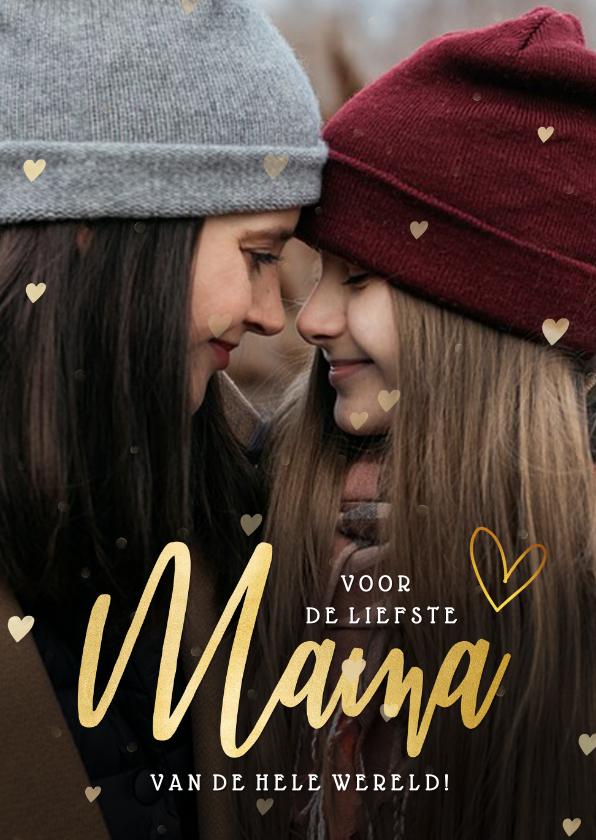 Valentijnskaarten - Valentijnskaart fotokaart voor de liefste mama / moeder!