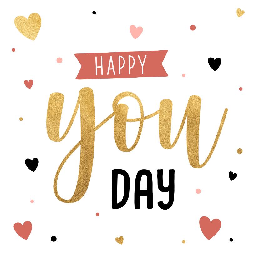 Valentijnskaarten - Valentijnskaart happy you day