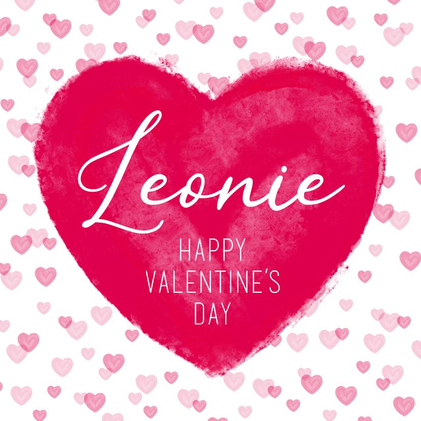 Valentijnskaarten - Valentijnskaart hart en naam