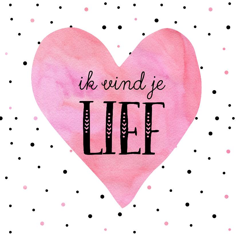 Valentijnskaarten - Valentijnskaart hart met lief