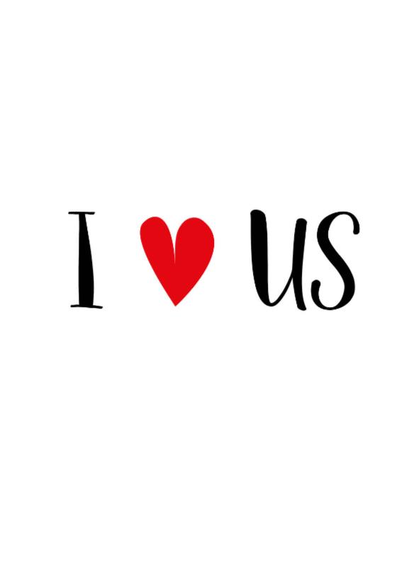 Valentijnskaarten - Valentijnskaart I love us