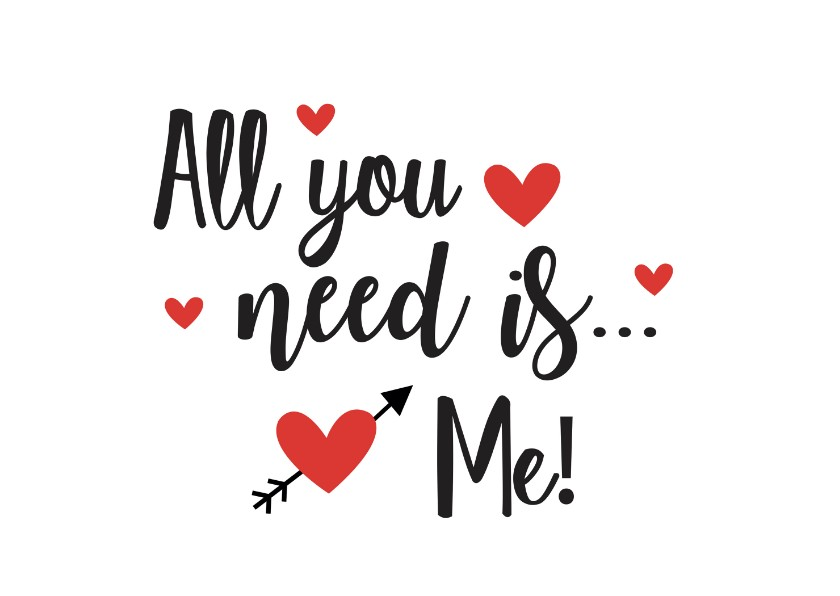 Valentijnskaarten - Valentijnskaart I need you more