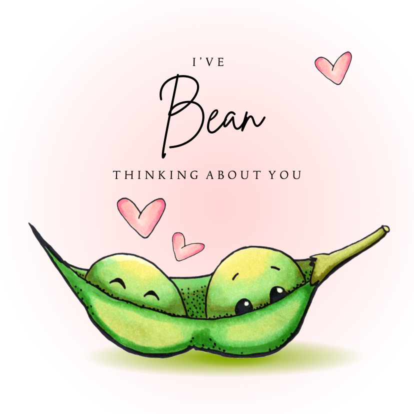 Valentijnskaarten - Valentijnskaart I've bean thinking about you