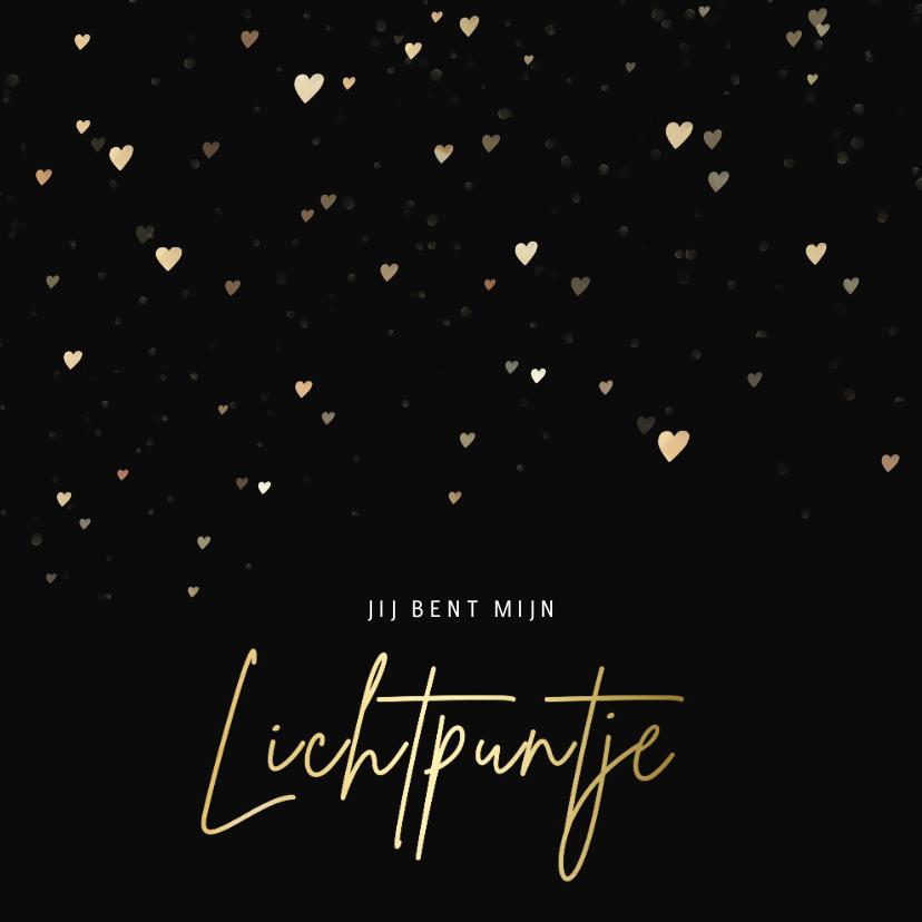 Valentijnskaarten - Valentijnskaart - jij bent mijn lichtpuntje met hartjes