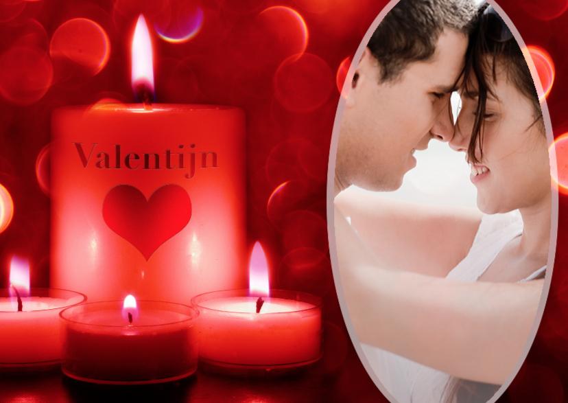 Valentijnskaarten - Valentijnskaart kaarsen - BK