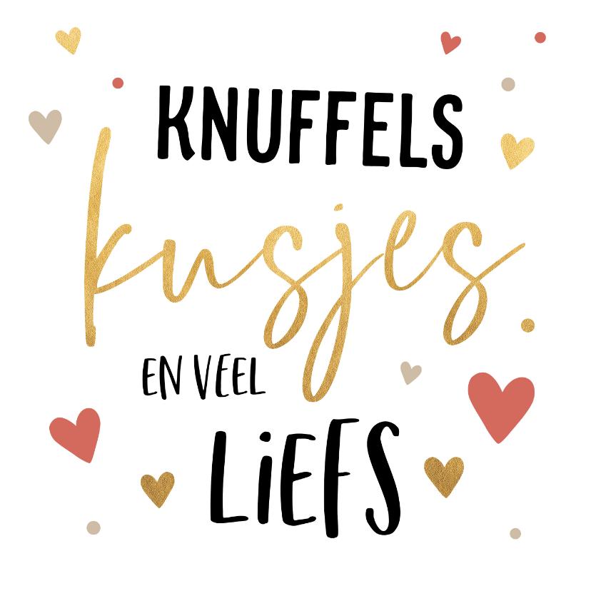 Valentijnskaarten - Valentijnskaart knuffels en kusjes