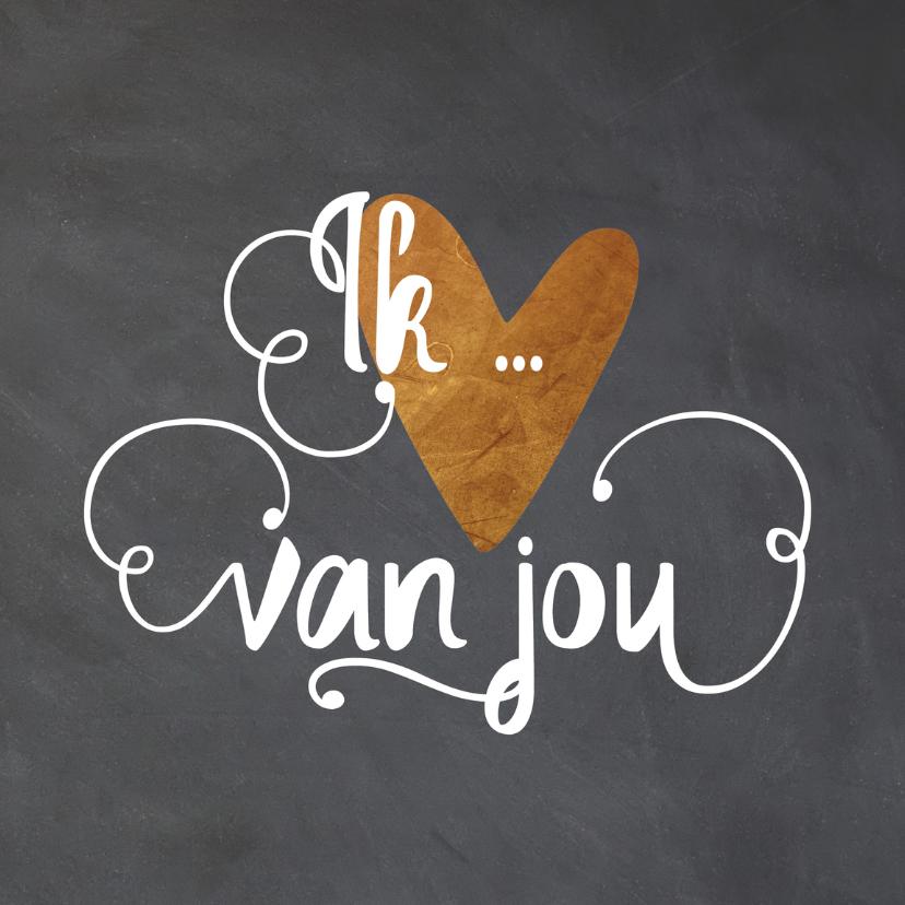 Valentijnskaarten - Valentijnskaart krijt - LO