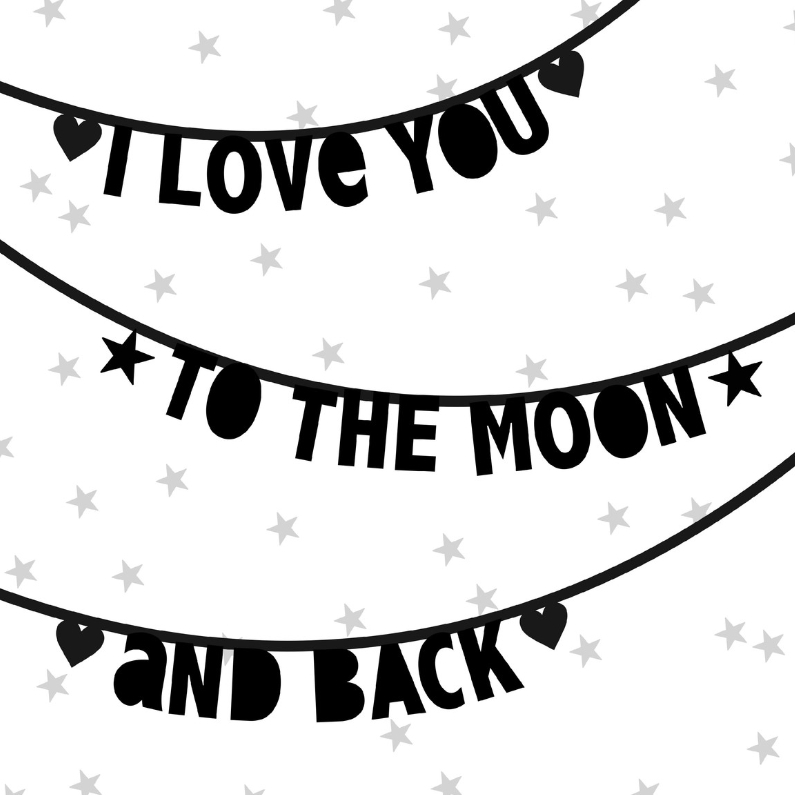 Valentijnskaarten - Valentijnskaart letterslingers