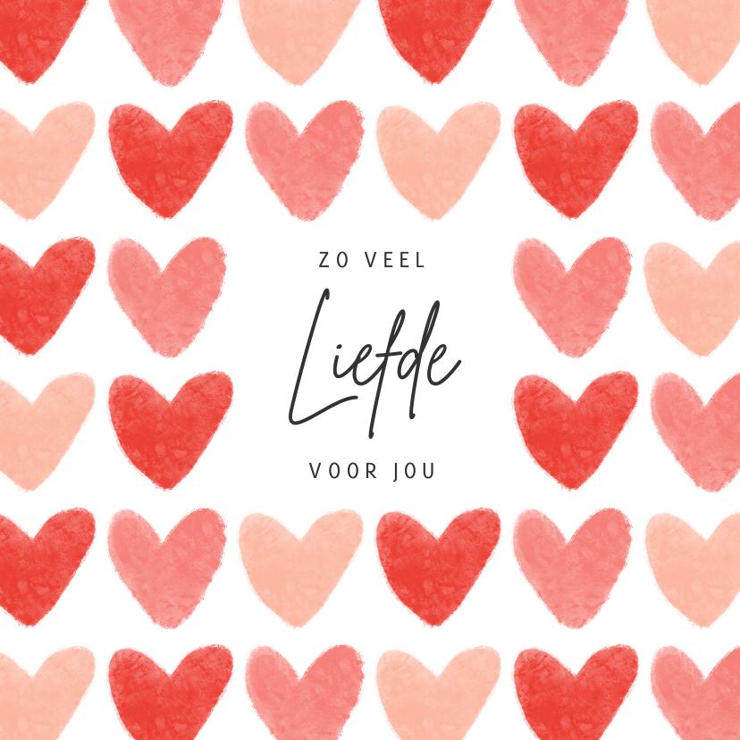 Valentijnskaarten - Valentijnskaart liefde hartjes fijne valentijn roze rood
