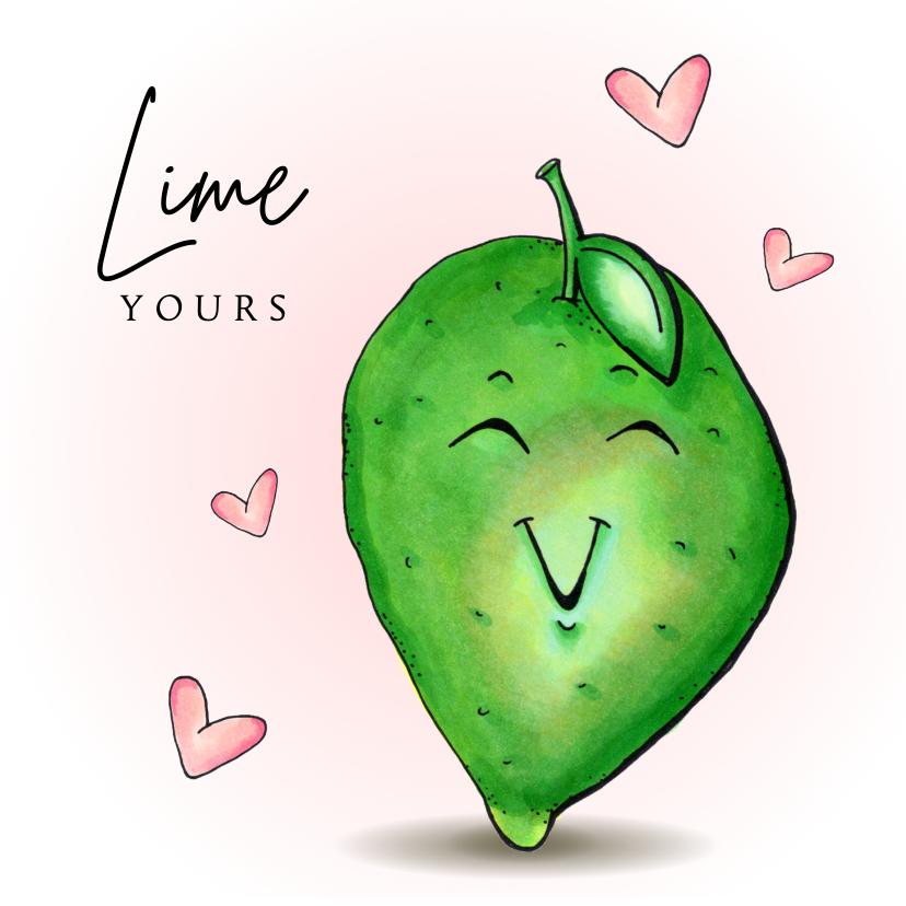 Valentijnskaarten - Valentijnskaart Lime yours