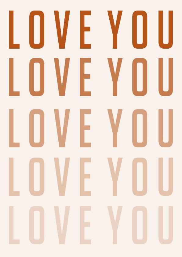 Valentijnskaarten - Valentijnskaart | LOVE YOU