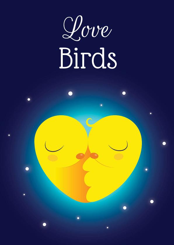 Valentijnskaarten - Valentijnskaart  Lovebirds - KO