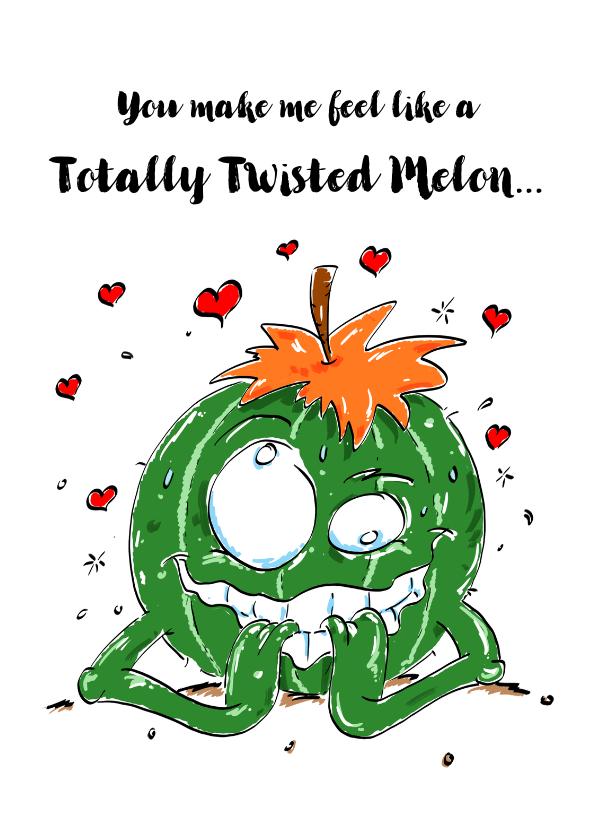 Valentijnskaarten - Valentijnskaart Melon