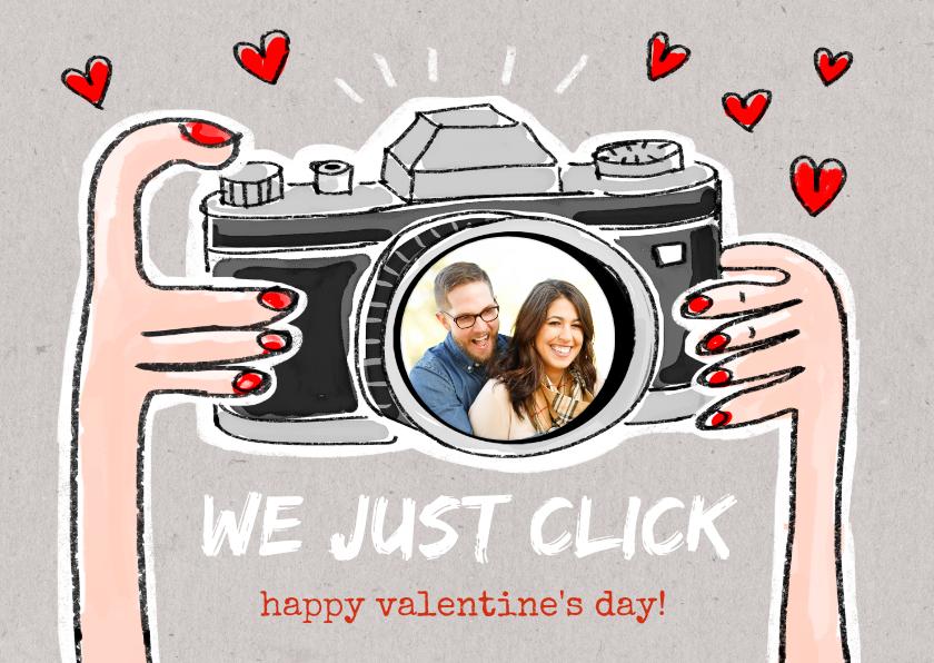 Valentijnskaarten - Valentijnskaart met camera we just click