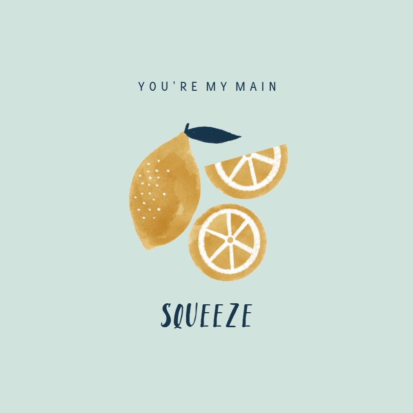 Valentijnskaarten - Valentijnskaart met citroentjes en leuke quote