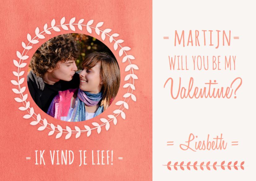 Valentijnskaarten - Valentijnskaart met foto en naam