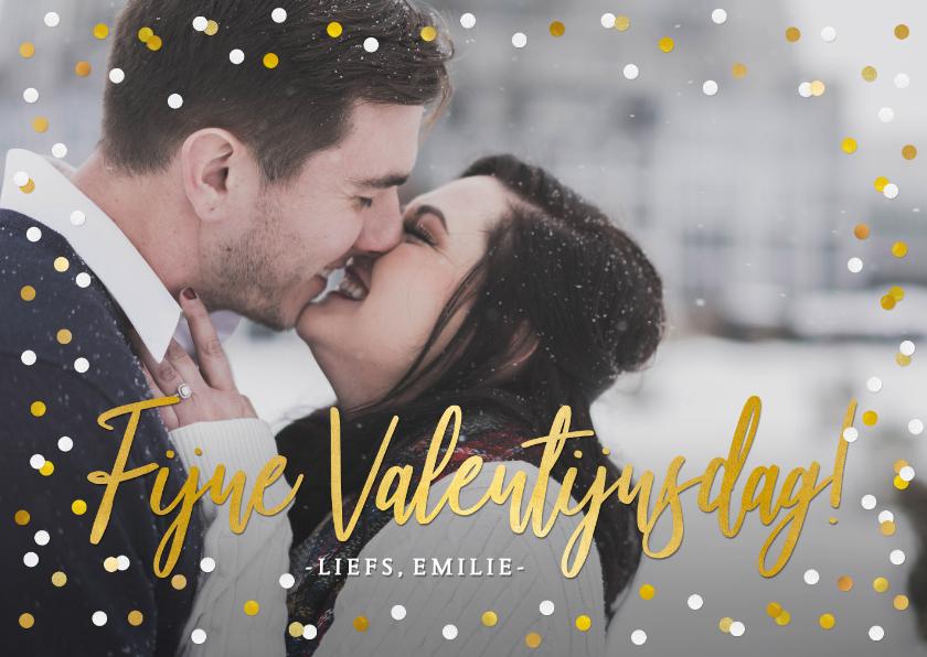 Valentijnskaarten - Valentijnskaart met grote foto en tekst fijne valentijnsdag