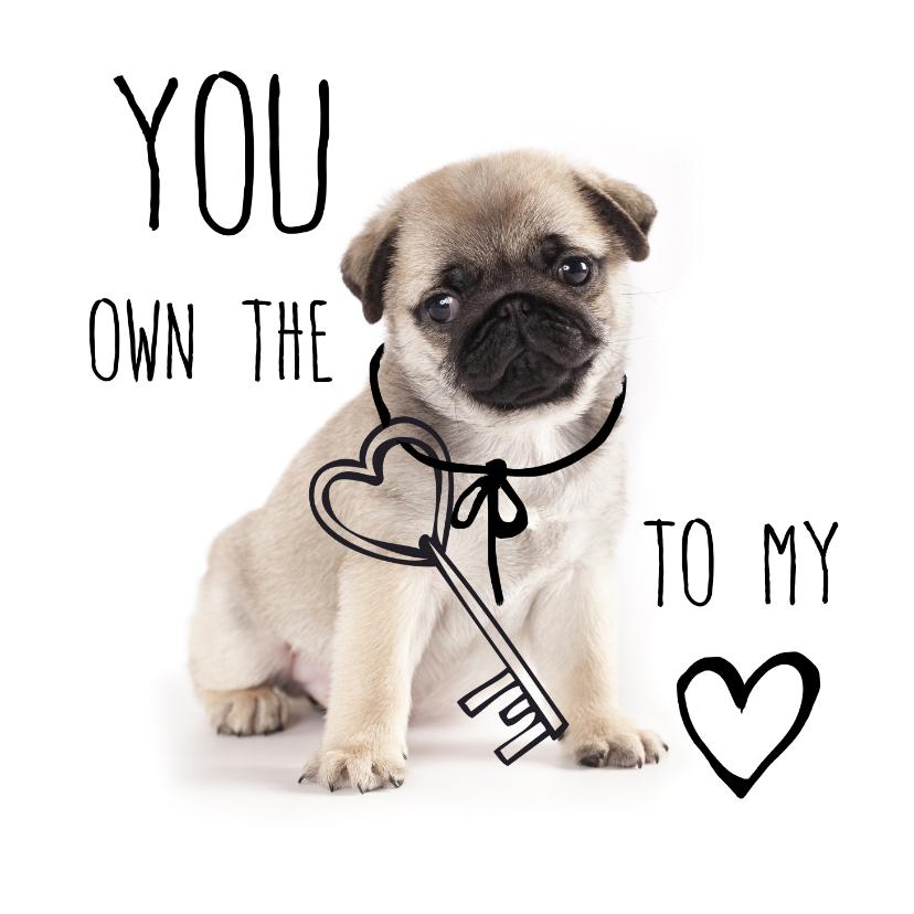 Valentijnskaarten - Valentijnskaart met lief hondje