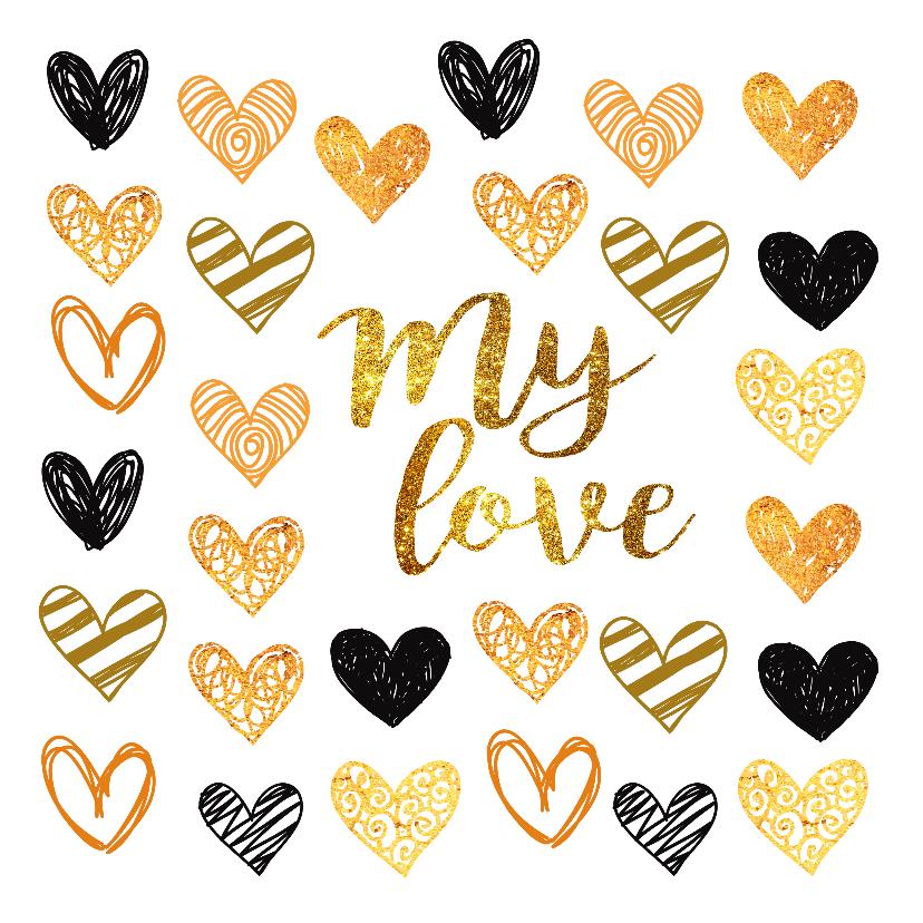 Valentijnskaarten - Valentijnskaart met lieve hartjes