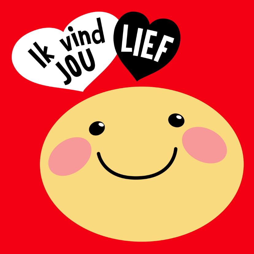 Valentijnskaarten - Valentijnskaart Smiley lief