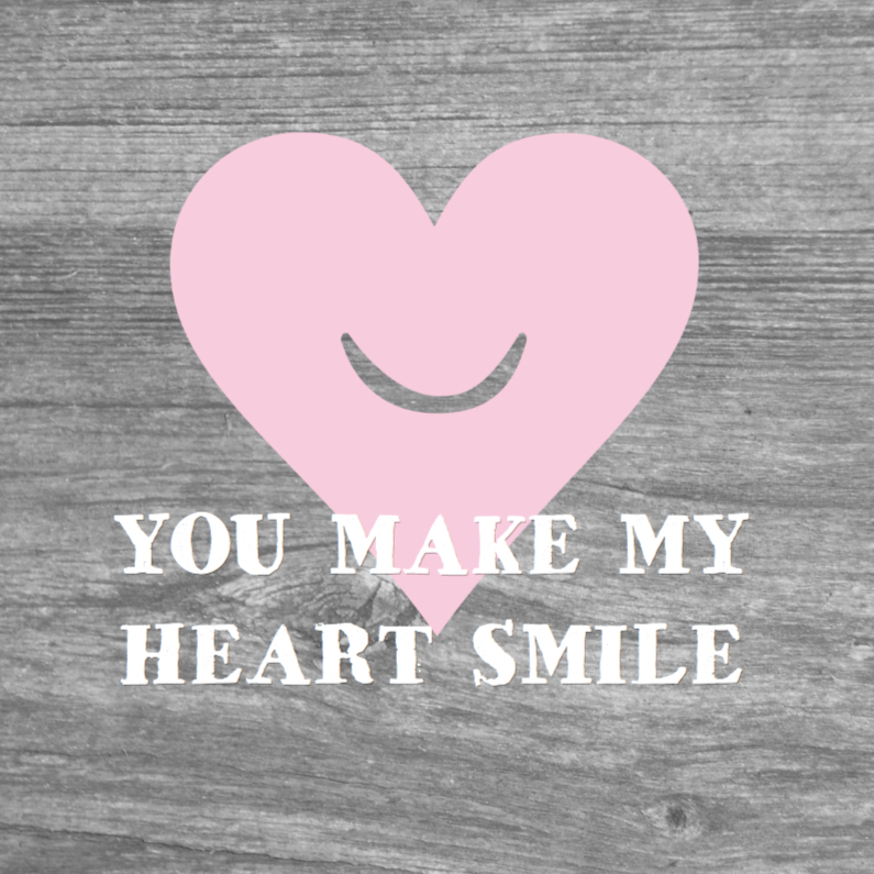 Valentijnskaarten - Valentijnskaart smiling heart