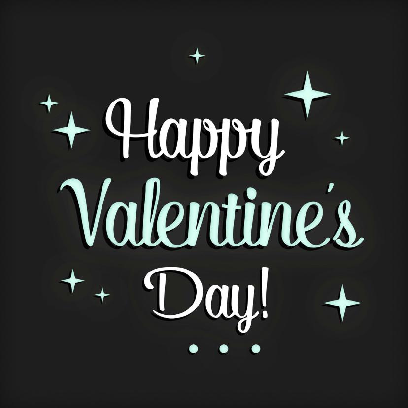 Valentijnskaarten - Valentijnskaart sterren Letters