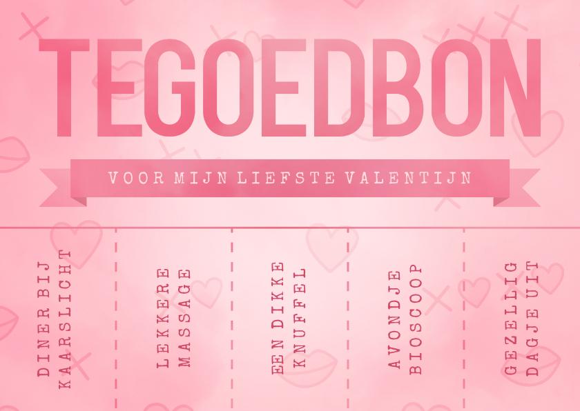 Valentijnskaarten - Valentijnskaart tegoedbon scheurkaartjes couponnen