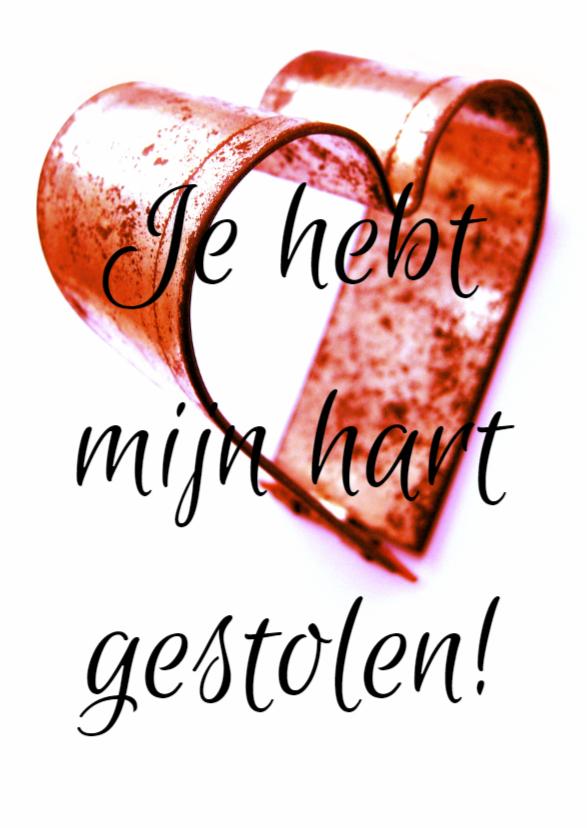 Valentijnskaarten - Valentijnskaart, tinnen hartje