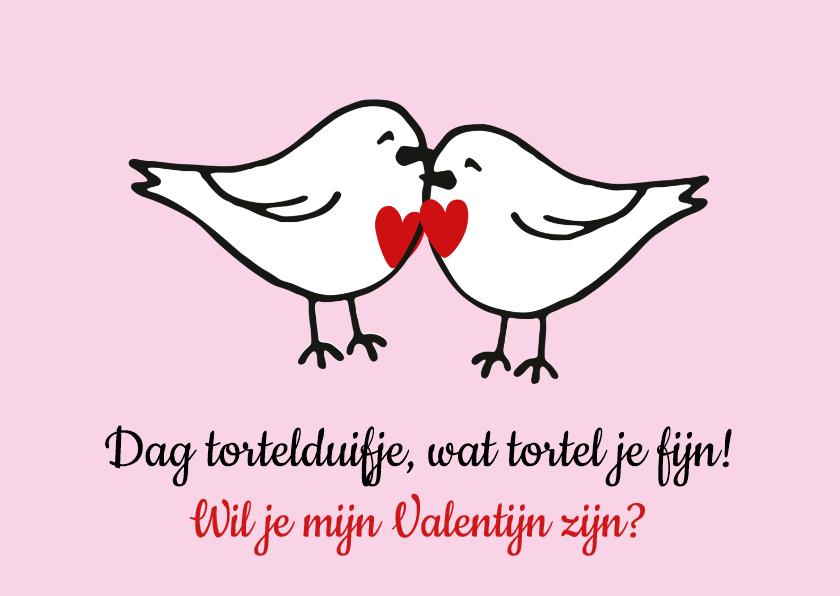 Valentijnskaarten - Valentijnskaart tortelduifjes