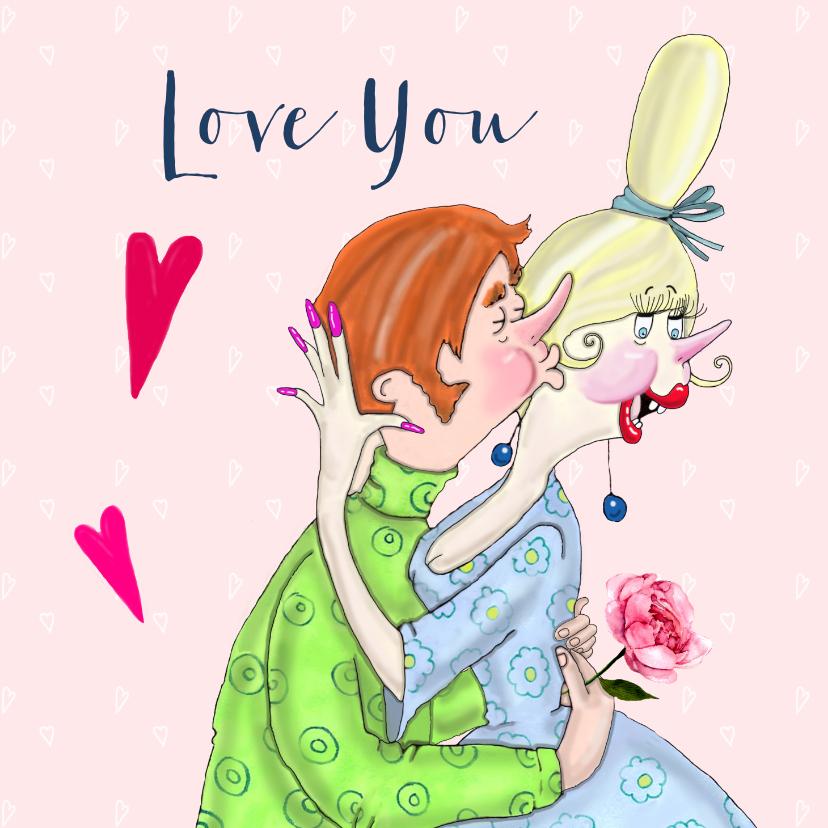Valentijnskaarten - Valentijnskaart True love