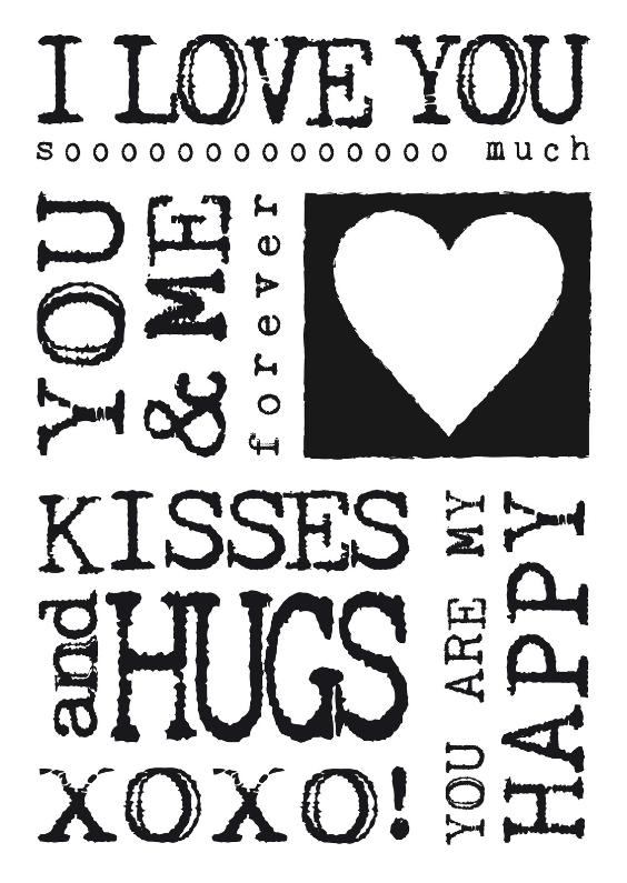 Valentijnskaarten - Valentijnskaart zwartwit tekst