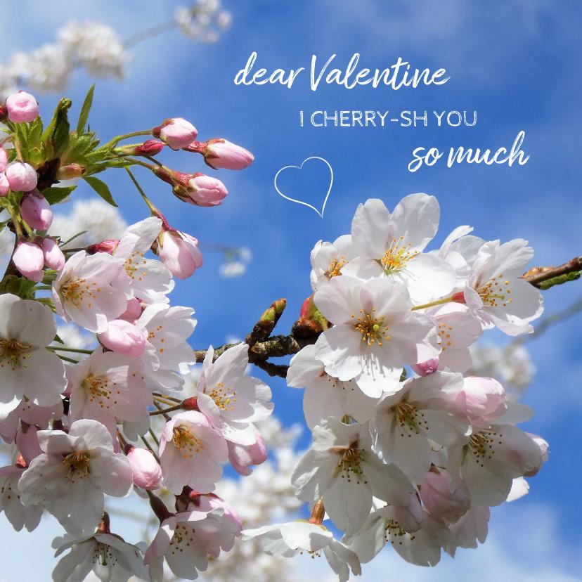Valentijnskaarten - Valentine Cherry blossom