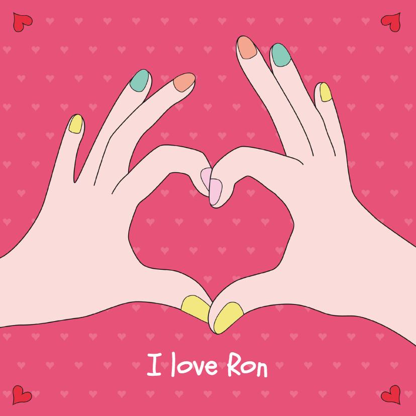 Valentijnskaarten - Valentine-Een hart in handen-HK