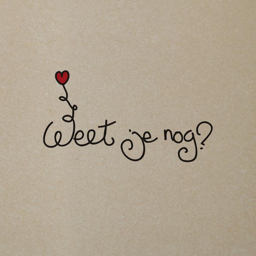 Valentijnskaarten - Weet je nog - voeg je beeldende hint toe