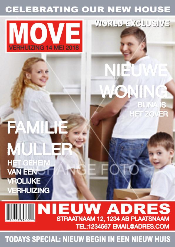 Verhuiskaarten - Adreswijziging Verhuisd Eigen Foto
