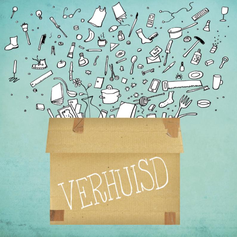 Verhuiskaarten - Alles in de verhuisdoos