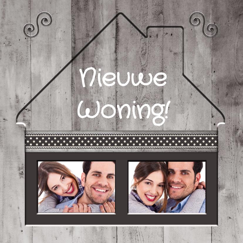 Verhuiskaarten - Antraciet Nieuwe Woning - BK