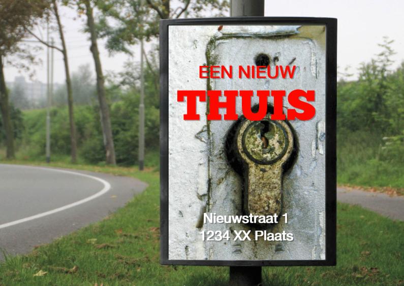 Verhuiskaarten - billboard nieuw thuis