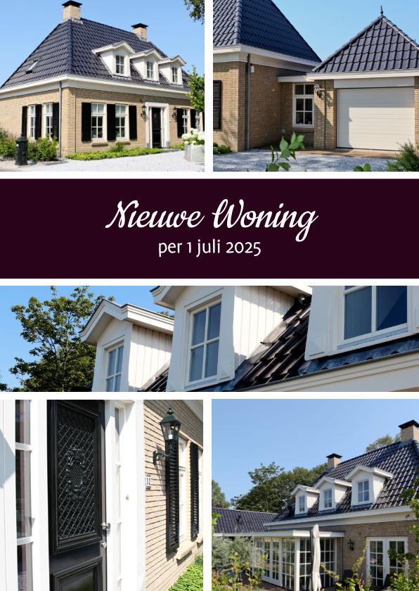 Verhuiskaarten - Collage Verhuizen 5 foto's - BK